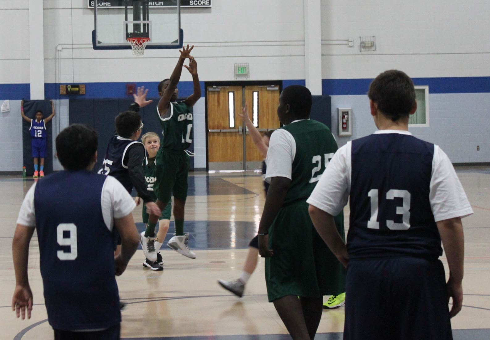 Player puts up a shot