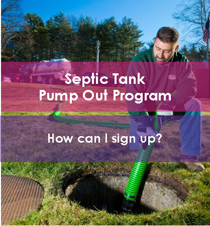 Link to Septic Tank Pump Out Program Page